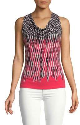 Calvin Klein Sleeveless Patterned Top