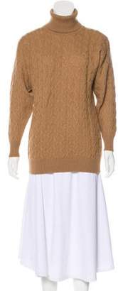 Burberry Camel Hair Cable Knit Turlteneck