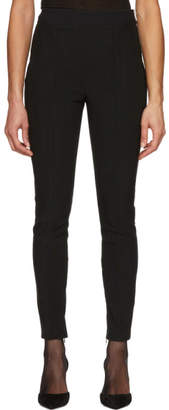 Alexander Wang Black Scallop Elastic Waist Leggings