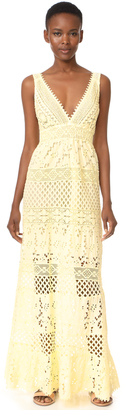 Temptation Positano Long Sleeveless Dress $560 thestylecure.com
