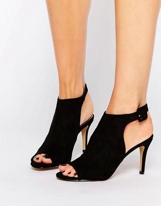 Oasis Peep Toe Heeled Boots $61 thestylecure.com