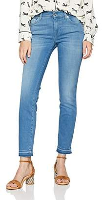 7 For All Mankind Seven International SAGL Women's Mid Rise Roxanne Crop Unrolled Slim Jeans,W30/L33 (Manufacturer Size: 30)