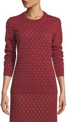 MICHAEL Michael Kors Studded Argyle Knit Top