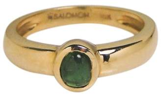 Salomon 18K Yellow Gold Emerald Ring Size 5.5