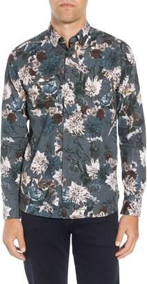 Ted Baker Hopeso Slim Fit Floral Sport Shirt