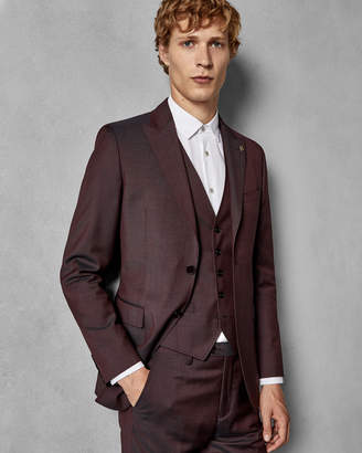 Ted Baker KUBRATJ Slim fit semi plain wool suit jacket