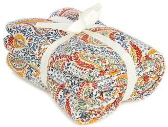 George Home Paisley Print Quilted Throw