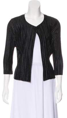 Pleats Please Issey Miyake Lightweight Pleated Cardigan