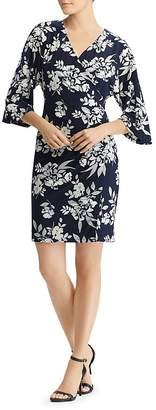 Lauren Ralph Lauren Faux-Wrap Floral Dress