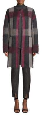 St. John Brushed Mohair Plaid Jacket