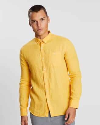 Fabric-Dyed Linen Shirt