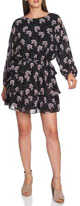 1 STATE 1.STATE Bloomsbury Floral Tiered Ruffle Dress