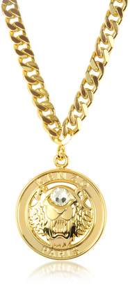 Kenzo Gilt Tiger Cyclop Necklace