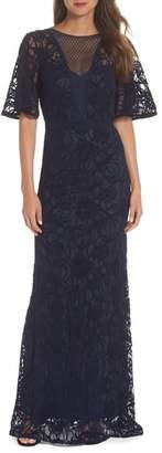 Tadashi Shoji Burnout Lace Gown