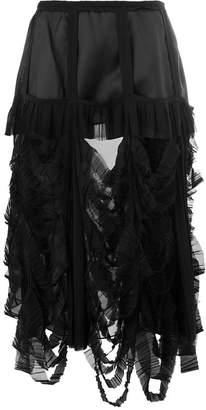 Maison Margiela slash-effect mid-length skirt