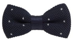 Dotted bow tie in a silk-blend knitted jacquard