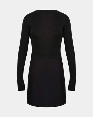 Theory Combo Mock Mini Dress
