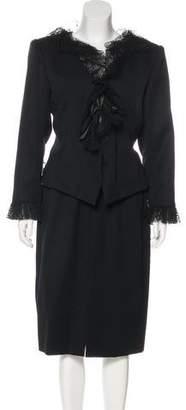 Saint Laurent Vintage Structured Knee-Length Skirt Suit