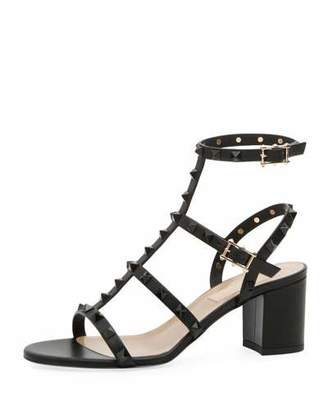 Valentino Rockstud Smooth Calf Sandal