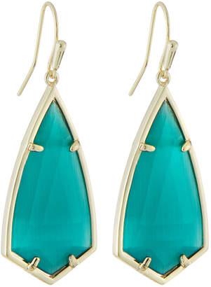 Kendra Scott Carla Statement Earrings - Green Cat's Eye