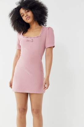 Urban Outfitters Claudia Corduroy Square-Neck Mini Dress