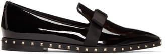 Valentino Black Garavani Patent Rockstud Loafers