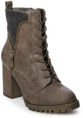So SO Nectarine Women's High Heel Ankle Boots