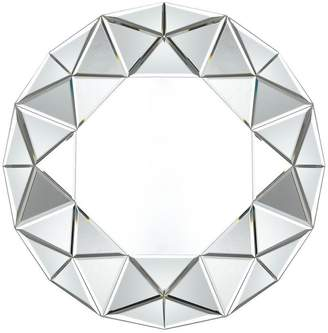 Gallery Round Faceted Mirror