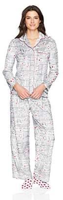 Karen Neuburger Women's Long Sleeve Minky Fleece Pajama Set PJ
