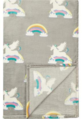 George Home Super Soft Extra Large Unicorn Patterned Throw