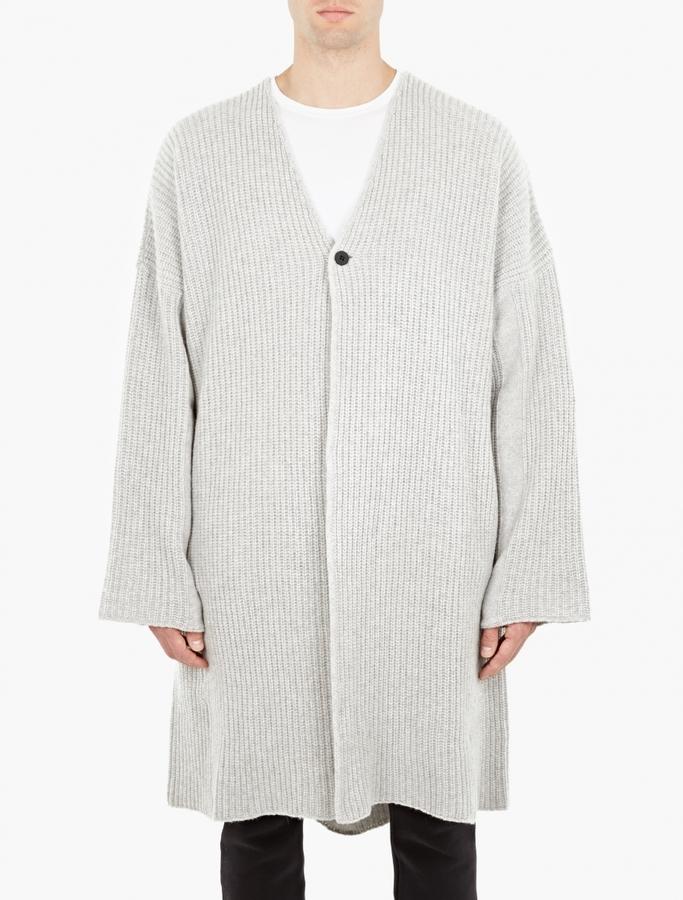 Thom Krom Grey Oversized Cardigan