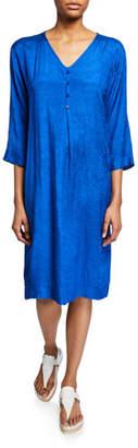 Masai Nahia V-Neck 3/4-Sleeve Shift Dress