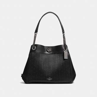 Coach Turnlock Edie Shoulder Bag With Quilting