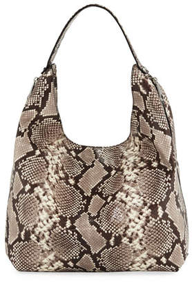 Rebecca Minkoff Bryn Snake-Print Denim Hobo Bag