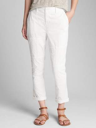 Gap Girlfriend Chinos with Eyelet Patch Detail