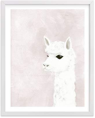 Pottery Barn Kids Alpaca Wall Art by Minted® 11x14, White
