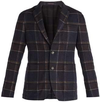 THE GIGI Angie single-breasted checked tweed blazer