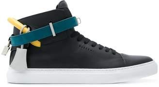 Buscemi straped hi-top sneakers