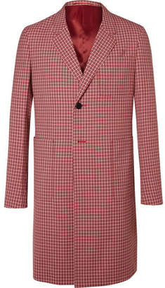 Prada Checked Wool-Jacquard Coat