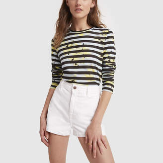 Proenza Schouler Long-Sleeve Striped Cotton Tee