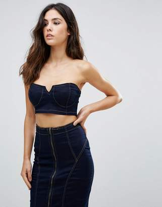 Parisian Denim Bralet Top