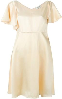 Saint Laurent shoulder slit flared dress
