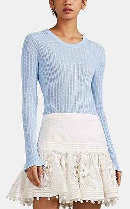 Philosophy di Lorenzo Serafini Women's Cable-Knit Crewneck Sweater - Lt. Blue