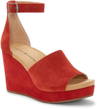 5f5ff854995 Lucky Brand Yemisa Wedge Ankle Strap Sandal