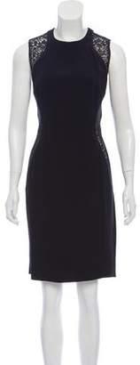 Stella McCartney Lace Panel Sleeveless Sheath Dress