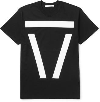 Givenchy Columbian-Fit Appliquéd Cotton-Jersey T-Shirt $445 thestylecure.com