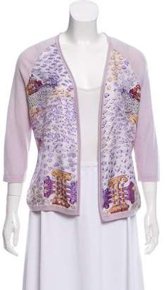 Hermes Silk and Cashmere Printed Cardigan