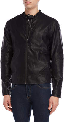 William Rast Black Dexer Faux Leather Jacket