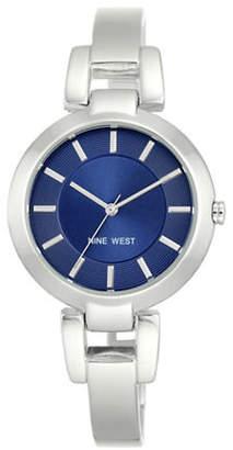 Nine West 1797BLSB Stainless Steel Bangle Bracelet Watch