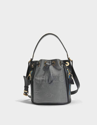 Kenzo Kombo Bucket Bag in Silver Neoprene